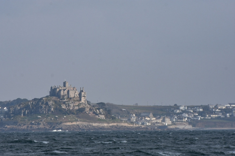 St Michael's Mount, Cornwall. As seen from our boat.