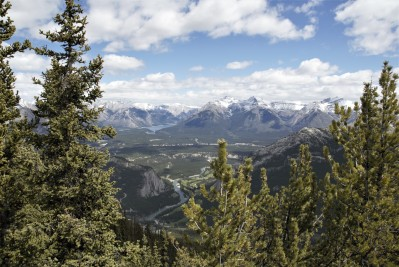 View from the summit of Mount Sulphur, Banff