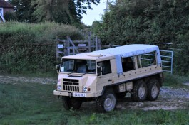 Knepp's safari vehicle