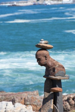 Various sculptures line the route as you make your way along the Fernkloof cliff path. This one at Gearing's Point