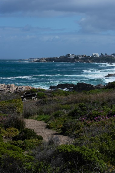 Looking back at Gearing's Point (and our apartment) from a spot on the Cliff Path