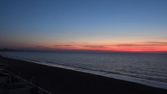 Sunset at the Sandbanks Hotel